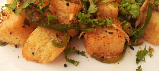 Instant fried idli