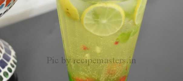 mint pineapple mocktail